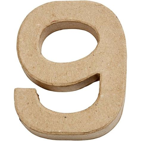 How To Make Paper Mache Numbers - small paper mache number 9 giggle factory