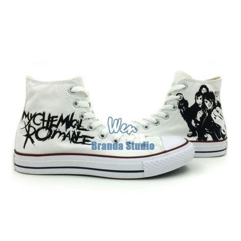 Myu Kanvas Shoes my chemical band painted 2014new sneakers high top fashion waterproof