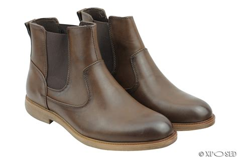 faux leather boots mens mens faux leather chelsea boots italian style smart casual