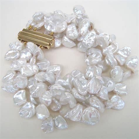 keshi pearl keshi pearl 4 row bracelet gallery