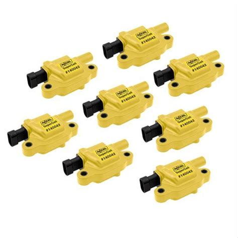 sbc coil resistor accel 140043 8 coils coil pack yellow buick chevy gm gmc ls2 ls3 ls7 set of 8 ebay
