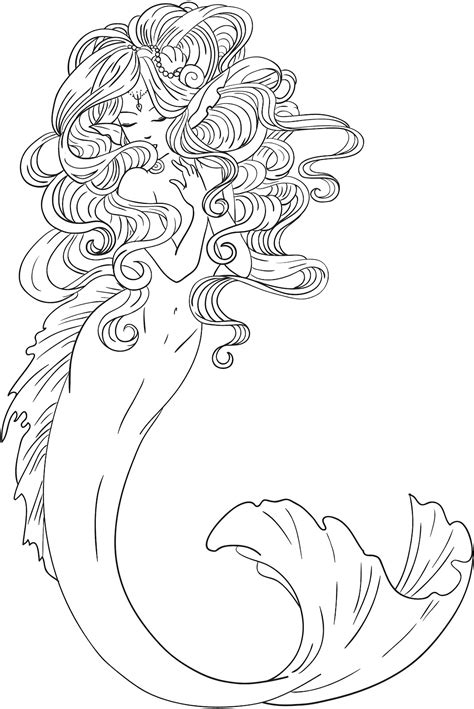 tattoo drawing gallery free shyni moonlightings freebie mermaid colouring page
