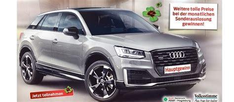 Audi Gewinnen by Auto Gewinnspiel Audi Q2 Gewinnen Volksstimme De