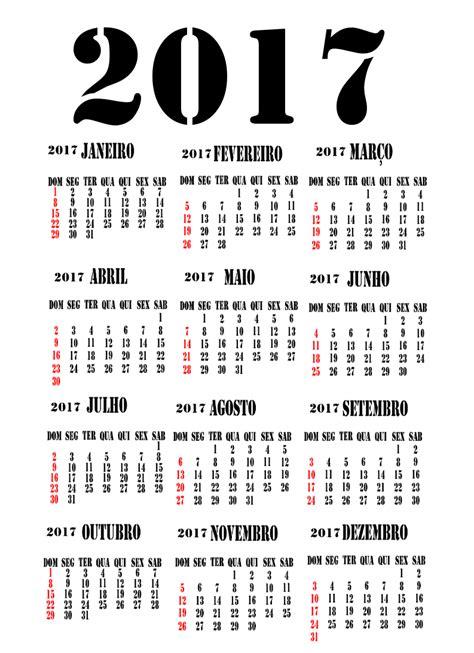 Calendario Do Mes De Outubro De 2017 Calend 225 2017 Feriados Para Baixar E Imprimir Toda