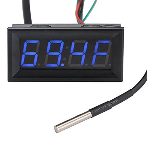 Multi Digital Display Meter Clock Date Thermometer Voltmeter drok led voltage fahrenheit temperature time digital multimeter dc 0 30v 12v 24v voltmeter