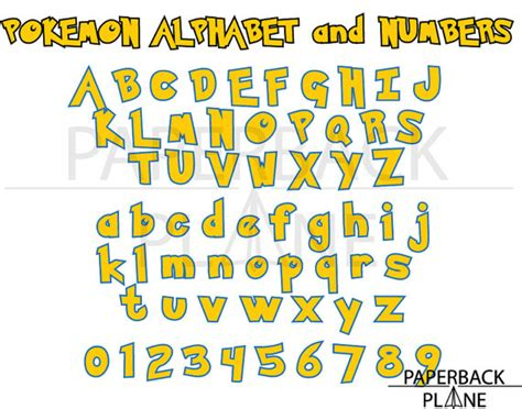 Card Making Machines - pokemon go alphabet letter numbers svg png dxf cut files