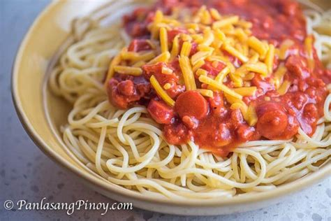 printable pinoy recipes panlasang pinoy spaghetti panlasang pinoy