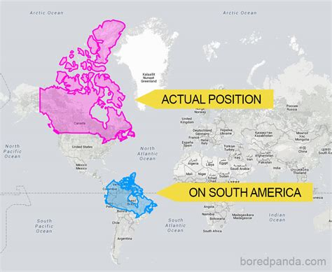 map world real size 15 maps reveal how the world actually looks