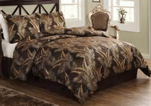 Tropical bedding comforter sets in palm trees in queen and king