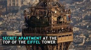 apartment at the top of the eiffel tower there is a secret apartment at the top of the eiffel tower this video shows visuals of the