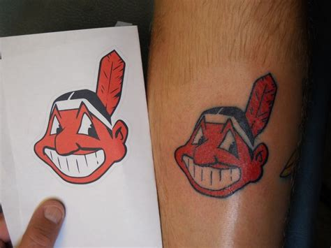 chief wahoo tattoo discover and save creative ideas