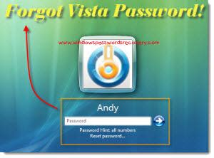 reset lost administrator password vista administrator password recovery vista