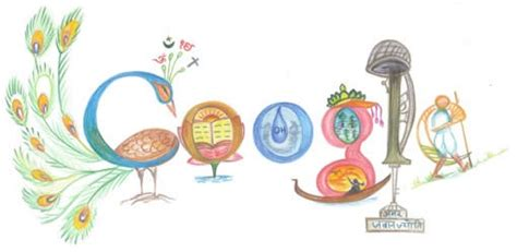 doodle competition india homepage logo by a kid