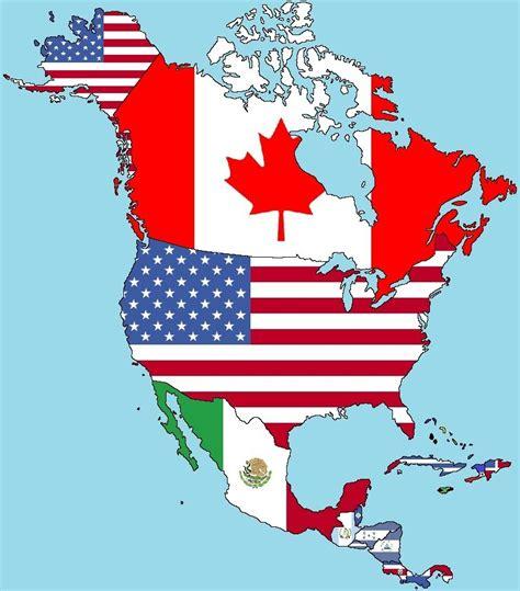 north america map with flags drapeaux de l am 233 rique du nord et centrale youtube