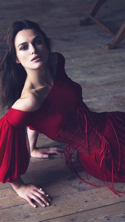 Wallpaper Keira Knightley, Actress, brunette, red dress