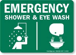 emergency shower sign emergency shower eye wash sign with graphic sku s 4224