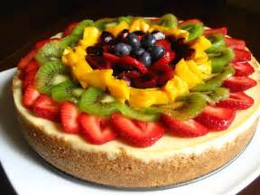 kitchen bliss fruit topped cheesecake