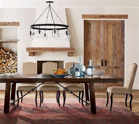 pottery barn dining room tables benchwright extending dining table pottery barn
