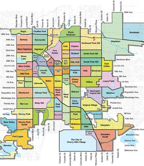 denver colorado suburbs map washington park homes