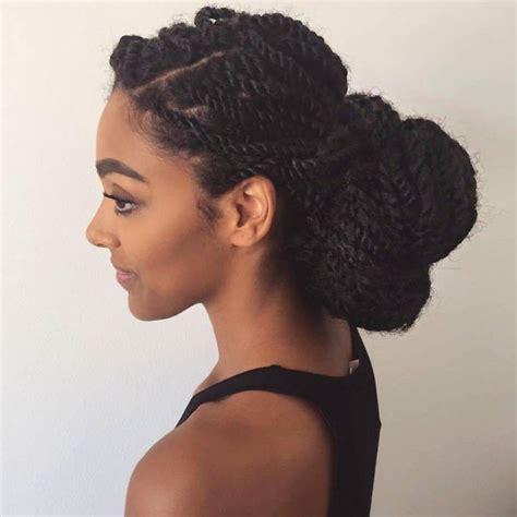 Twist Bun Hairstyles by 25 Best Ideas About Marley Twists On