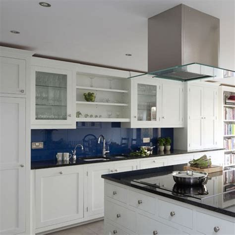 Decorating Ideas For Blue And White Kitchen White And Blue Combinated Kitchen Designs
