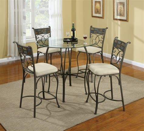 Wrought Iron Kitchen Table And Chairs Wrought Iron Kitchen Chairs Chic Small Dining Room Design With Glass Table Photo 58