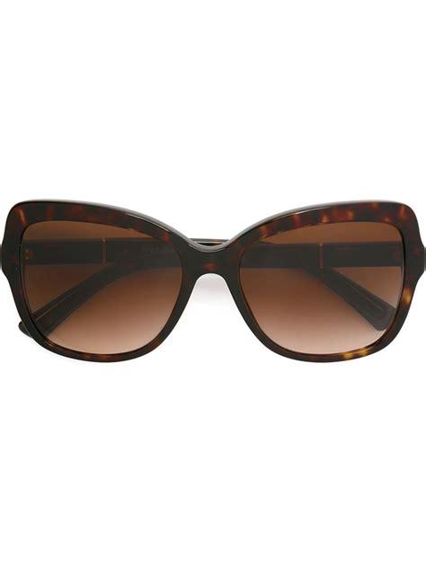 Butterfly Sunglasses dolce gabbana oversized butterfly sunglasses in brown lyst