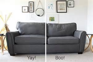 Repair Sofa Cushion Remodelaholic 28 Ways To Bring New To An Sofa