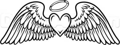 this angel wings with heart amp halo tattoo dedication to