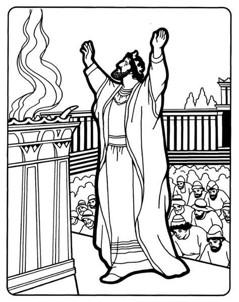king solomon bible page to color 019 solomon builds the temple coloring pages pinterest