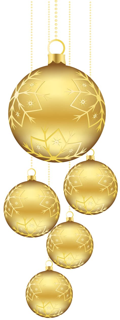 golden clipart christmas ornaments pencil and in color
