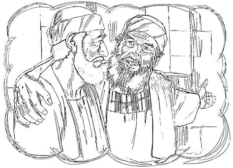 The Prodigal Son Coloring Pages Coloring Home Prodigal Coloring Page