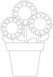 sun flower template sunflower digital st pot plant cut file template