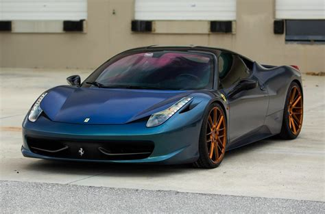 beautiful ferrari 458 on vossen wheels