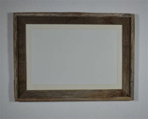 13x19 Matted Frame by Upcycled Barn Wood Poster Frame 13x19 From Barnwood4u