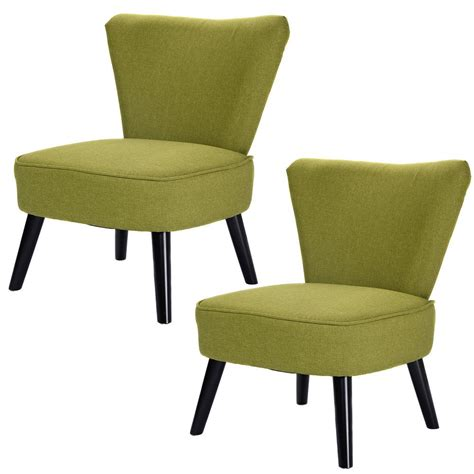 Set Of Armless Accent Dining Chair Modern Living Room Living Room Chairs Modern