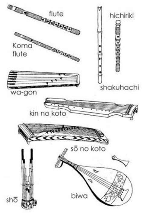 Heian period musical instruments.   Heian Japan