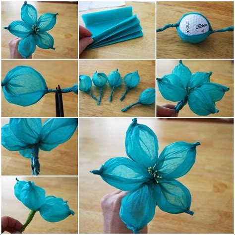 How To Make Tissue Paper Flower Balls - tissue paper flower balls