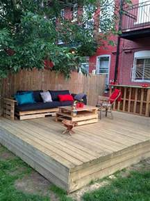 Deck And Patio Furniture Diy Pallet Patio Decks With Furniture Pallet Wood Projects