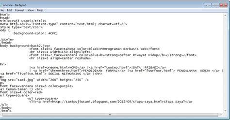 cara membuat website pribadi menggunakan html jaringan informasi cara mudah membuat html menggunakan