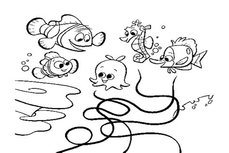 free finding nemo shark coloring pages