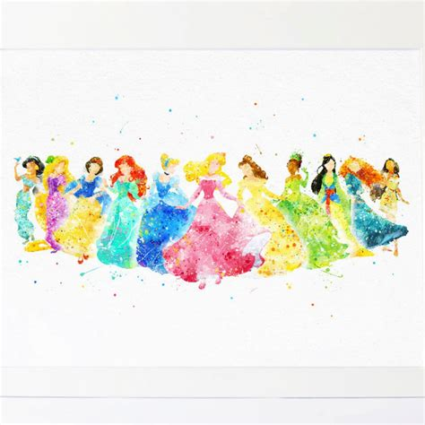 disney princess nursery decor disney princess collection watercolor nursery princess
