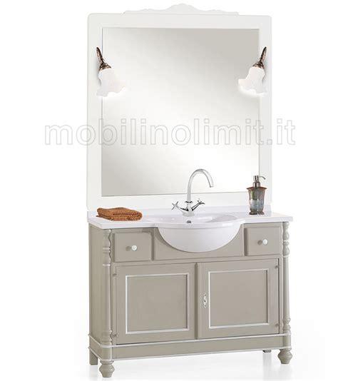 mobili bagno bianchi mobile bagno 2 ante e 2 cassetti grigio e filetti bianchi
