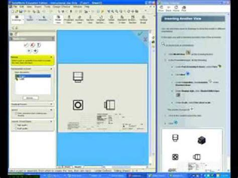 solidworks tutorial lesson 2 assemblies solidworks tutorials lesson 3 drawings part 2 youtube