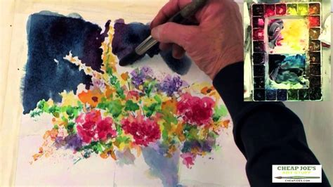cheap joe s watercolor tutorial watercolor techniques with judy rider painting a floral