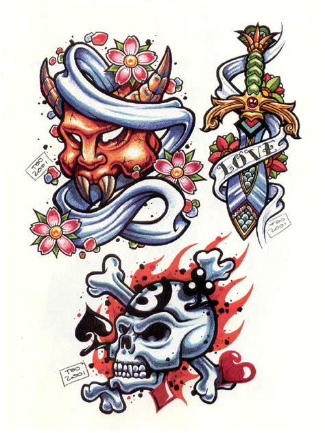 tattoo design new school new school clipart