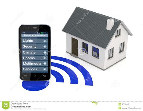smartphone home automation home automation stock photos image 37703443