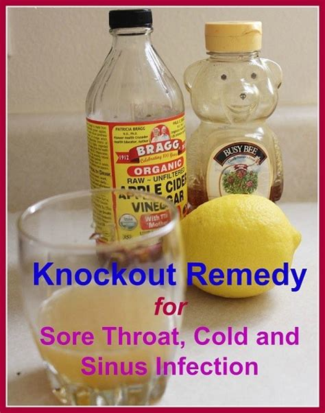 knock out remedy for sore throat cold sinus infection