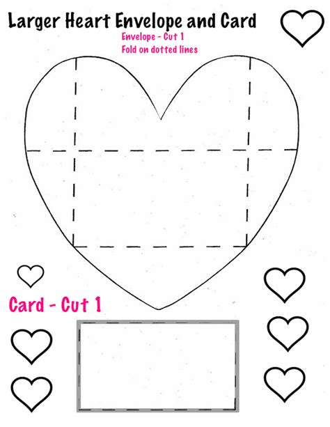 big printable envelope the smartteacher resource heart cards and envelopes