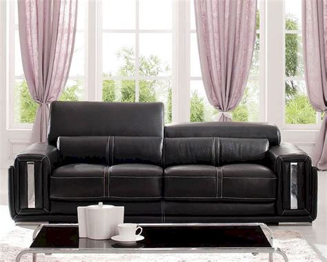 European Design Italian Leather Sofa In Dark Brown Finish European Leather Sofa